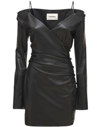 Nanushka Moha エコレザードレス - ブラック