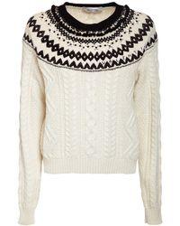 Valentino ウールニットセーター - ホワイト