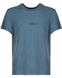 Maison Margiela コットンジャージーtシャツ - ブルー