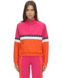 Fila Sweatshirt Aus Nylon Mit Logo - Pink