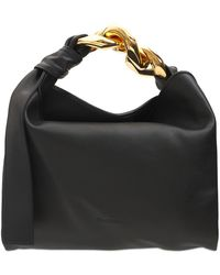 JW Anderson Small Leather Chain Hobo Bag - Black