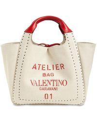 Valentino Garavani - Atelier キャンバストートバッグ - Lyst