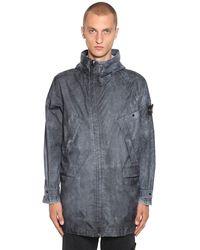 Stone Island Membrana 3l Dust Color Finish Jacket - Black