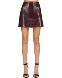Courreges - Logo Wrinkled Vinyl Mini Skirt - Lyst