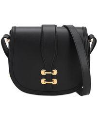 Alberta Ferretti Albi Small Leather Shoulder Bag - Black