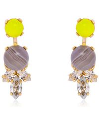 Anton Heunis - Colour Block Stud Earrings - Lyst