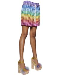 Ashish - Sequined Silk Georgette Shorts - Lyst