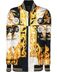 Versace Куртка-бомбер Из Шелковой Саржи - Многоцветный