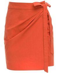 Ciao Lucia Ponza Cotton Poplin Mini Skirt - Multicolour