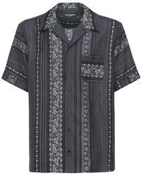 Dolce & Gabbana Рубашка Боулинг С Принтом - Черный
