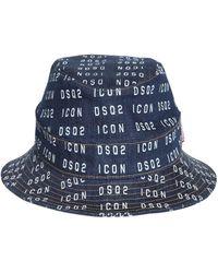 DSquared² Jeans-Fischerhut mit Logo - Blau