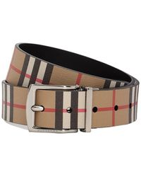 030a01733aa Burberry - Vintage Check Leather Belt - Lyst