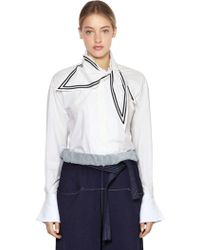 Philosophy Di Lorenzo Serafini - Cotton Shirt W/ Scarf - Lyst
