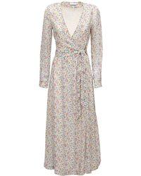 Ganni ジョーゼットラップドレス - ホワイト