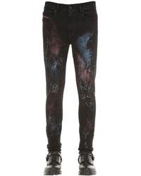 """DIESEL Jeans Skinny """"D-Amny"""" In Denim 17Cm - Nero"""