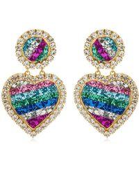 Shourouk - Mini Marilyn Rainbow Clip-on Earrings - Lyst