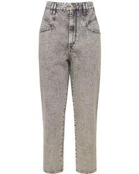"Isabel Marant Jeans ""dipadela"" In Denim Di Cotone - Grigio"