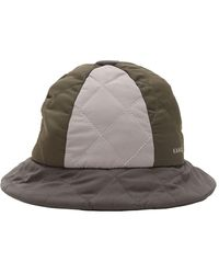 0103739ec Quilted Colour Block Bucket Hat - Multicolour