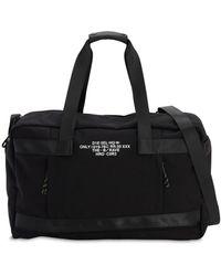 DIESEL Tech Canvas Duffle Bag - Black