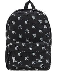 KTZ Ny Yankees Allover Logo Backpack - Black