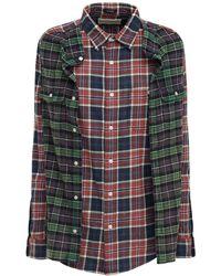 R13 フランネルシャツ - マルチカラー