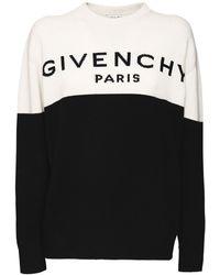 Givenchy Двухцветный Трикотажный Свитер Из Кашемира - Черный