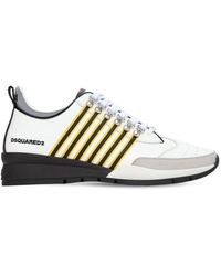 DSquared² 251 Leather Stripes Low-top Sneakers - Multicolor