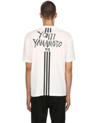 Y-3 - T-shirt In Jersey Di Cotone - Lyst