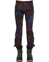"DSquared² Pantalones ""Biker"" De Algodón Tie Dye - Azul"