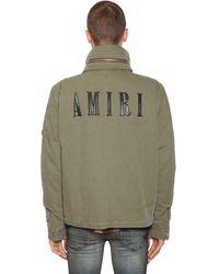 Amiri Куртка Из Хлопкового Канваса С Аппликациями - Зеленый