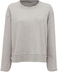 Theory Striped Crewneck Cotton Sweatshirt - Multicolor