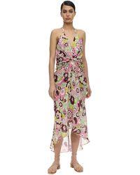 Dodo Bar Or - Jennifer Draped Cotton Midi Dress - Lyst