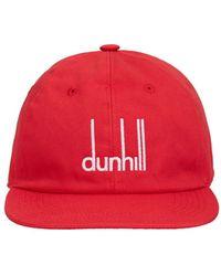 Dunhill Logo Signature Cotton Cap - Red