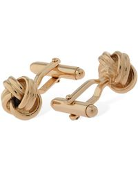 Lanvin Braided Knot Cufflinks - Metallic
