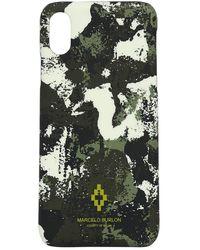 Marcelo Burlon Iphone Xr-cover Mit Logodruck - Schwarz