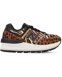 "New Balance Sneakers ""574"" Con Platform - Marrone"