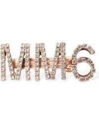 MM6 by Maison Martin Margiela Заколка Со Стразами - Розовый