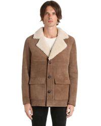 Garçons Infideles Classic Shearling Jacket - Brown