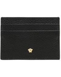 Versace - Tumbled Leather Card Holder - Lyst