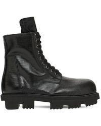 Rick Owens Ботинки Милитари - Черный