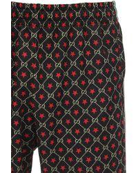 Gucci Trainingshose Aus Baumwollmischung Mit Gg-logo - Grau