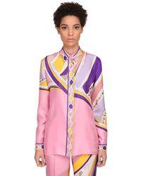 Emilio Pucci Пижамная Рубашка С Принтом - Пурпурный