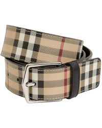Burberry - 40mm Classic Check Belt - Lyst