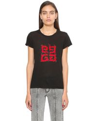 Givenchy - Logo Printed Cotton Jersey T-shirt - Lyst