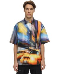 Heron Preston Print Taxi Cotton Bowling Shirt - Multicolour