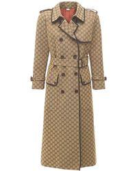 Gucci ベルテッドコットンキャンバスコート - マルチカラー