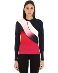 Sportmax テクノストレッチジャージー スウェットシャツ - レッド