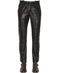 Belstaff - Telford Smooth Leather Biker Pants - Lyst