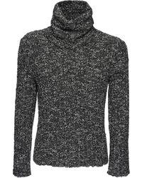 Dolce & Gabbana ウールニットタートルネックセーター - グレー