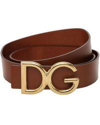 Dolce & Gabbana - Dg レザーベルト 35mm - Lyst